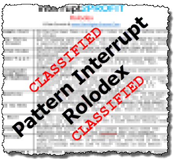 pattern interrupt rolodex
