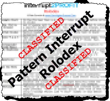 pattern interrupt rolodex